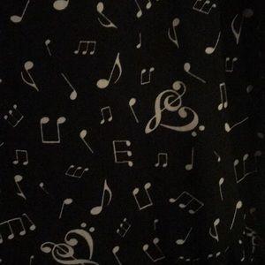 Hot Topic Dresses - Hot topic music note dress